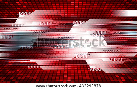 digital data background,red abstract light hi tech pixel internet technology, Cyber security concept, Cyber data digital computer, move motion vector - stock vector
