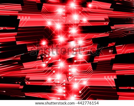 digital data background, red abstract light hi tech pixel internet technology, Cyber security concept, Cyber data digital computer. eye scan virus. motion move speed. vector - stock vector