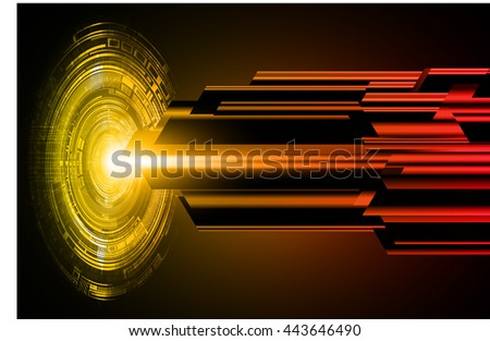 digital data background, yellow red abstract light hi tech pixel internet technology, Cyber security concept, Cyber data digital computer. eye scan virus. motion move speed. vector - stock vector