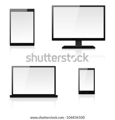 Digital devices. Illustration for design on white background - stock vector
