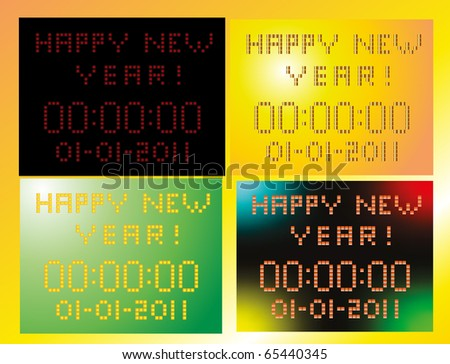 digital display with the new year 2011 - stock vector