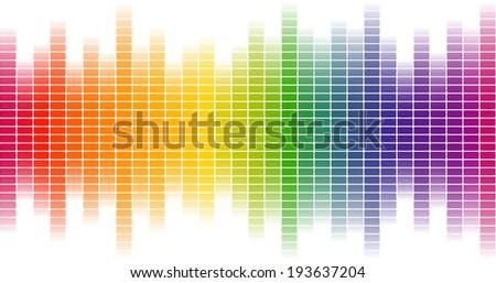 Digital equalizer background colorful - endlessly - stock vector