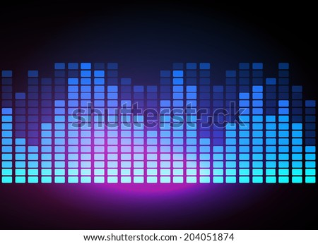 Digital Equalizer, stylized vector background - stock vector