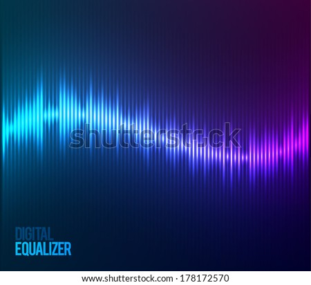Digital Equalizer. Vector illustration, - stock vector