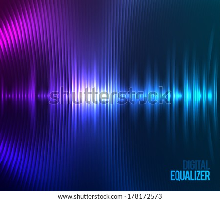 Digital Equalizer. Vector illustration