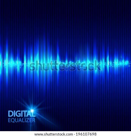 Digital equalizer. Vector illustration - stock vector