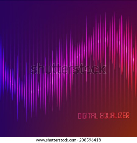 Digital Equalizer. Vector illustration.