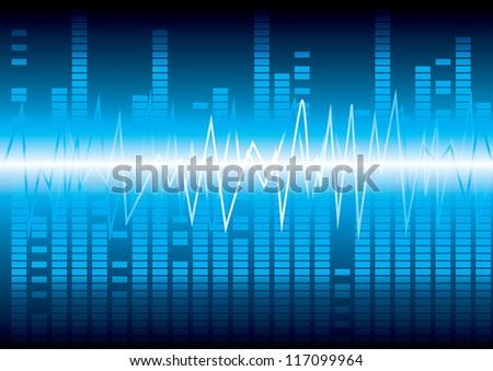 digital equalizer Vector illustration eps 10 (Wave sound media) - stock vector