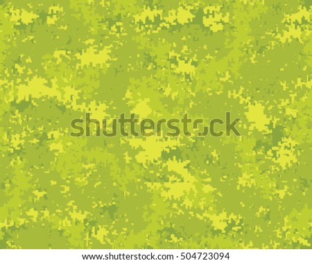Digital fashionable camouflage pattern, vector illustration. Military print. Seamless vector wallpaper