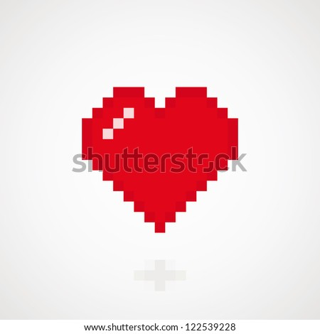 Digital heart abstract background. Vector illustration - stock vector