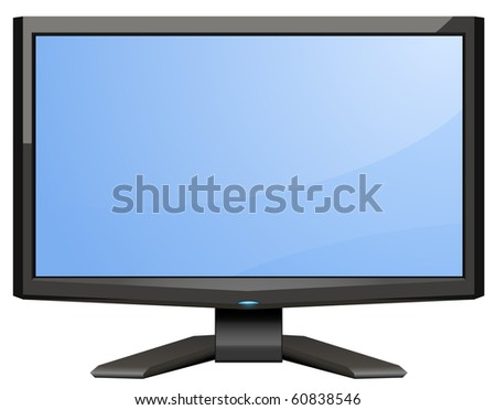 Digital LCD monitor - stock vector