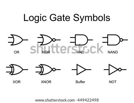 logic gates stock images  royalty