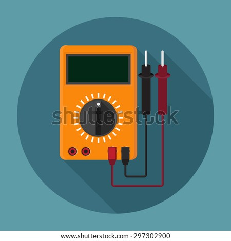 Digital Multimeter icon - stock vector