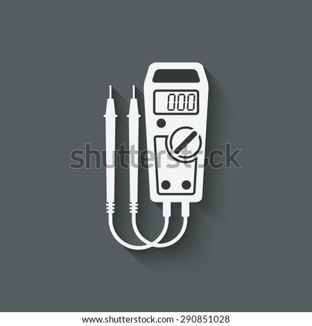 digital multimeter symbol - vector illustration. eps 10 - stock vector