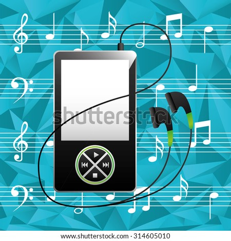 digital music technology design, vector illustration eps10 graphic