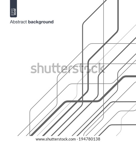 Digital network concept. Vector abstract background with technical lines for presentations, business, web, computer and mobile apps, graphic design: technology circuit in geometric motion - stock vector