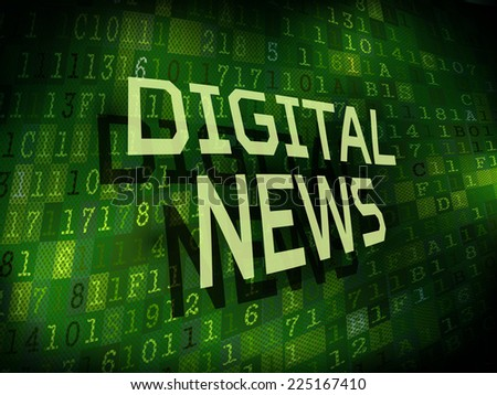 digital news words isolated on internet digital background  - stock vector