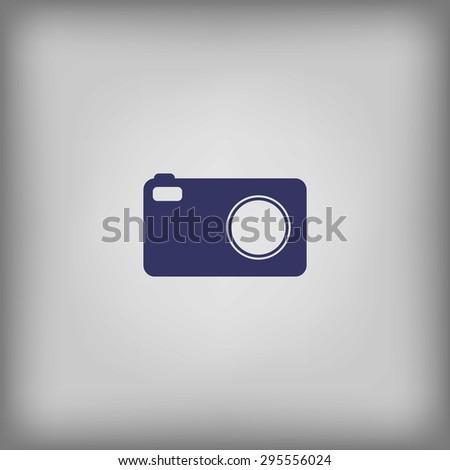 Digital photo camera icon - stock vector