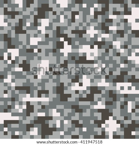 Digital pixel camouflage seamless pattern  - stock vector