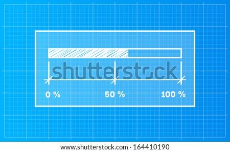 Digital preloader download bar on blueprint stock vector 164410190 digital preloader download bar on a blueprint background malvernweather Image collections