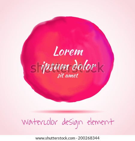 Digital red paint stain. Vector illustration. - stock vector