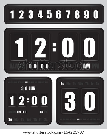 Digital retro clock and calendar
