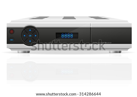 digital satellite receiver vector illustration isolated on white background - stock vector