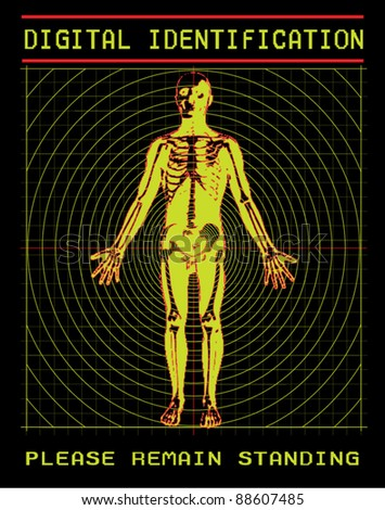 Digital scanning of body in security system