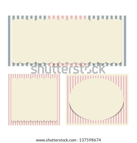 digital scrapbooking kit: old paper - different aged paper objects for your layouts - stock vector