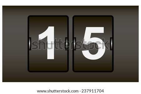 Digital Signage Web counter into two segments. Vector illustration. - stock vector