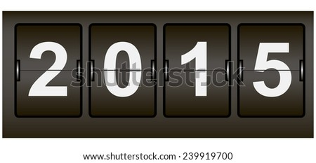 Digital Signage Web counter with the date of the new year. Vector illustration. - stock vector
