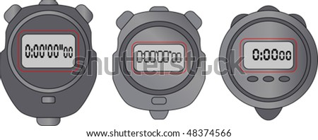 Digital stopwatch - stock vector