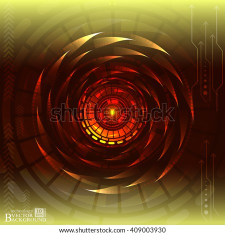 Digital technology and engineering, digital telecoms technology concept, Abstract futuristic- technology on yellow color background. Vector - stock vector