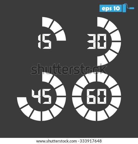 digital timer - stock vector