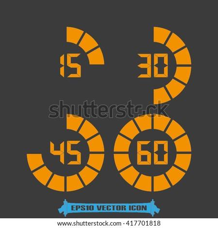 Digital timer icon vector. Digital timer Illustration, vector graphics eps. Digital timer logo. Digital timer web icon. Digital timer icon, flat style design. Digital timer icon - stock vector
