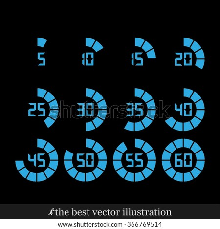 digital timer icon vector illustration eps10. - stock vector