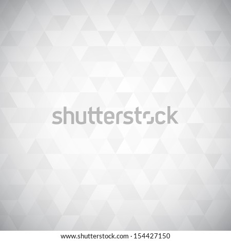 Digital triangle pixel mosaic, white and black color, hight key grayscale, abstract vector background - stock vector