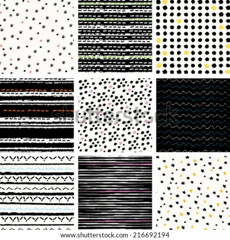 digital vector paper,  pattern set - stock vector