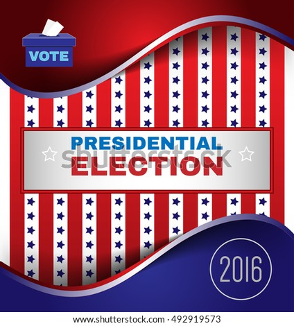 Digital vector usa election with presidential vote, republican vs democrat, make your choise,  flat style