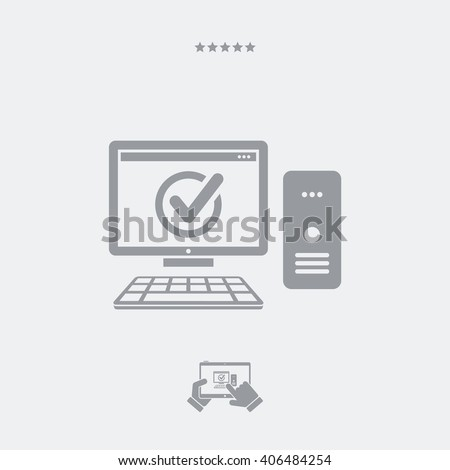 Digital workstation check -  Single essential icon