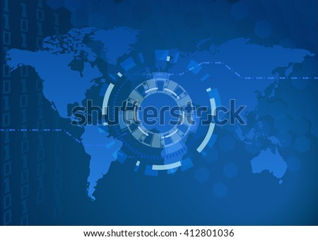 Digital world map focus light eps10 stock vector 412801036 digital world map and focus light eps10 map generated using open source free gumiabroncs Image collections