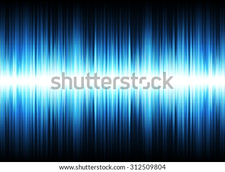 Digitally generated image of blue light ,Sound waves oscillating glow light - Vector
