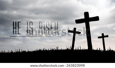Digitally generated Jesus on the cross vector - stock vector