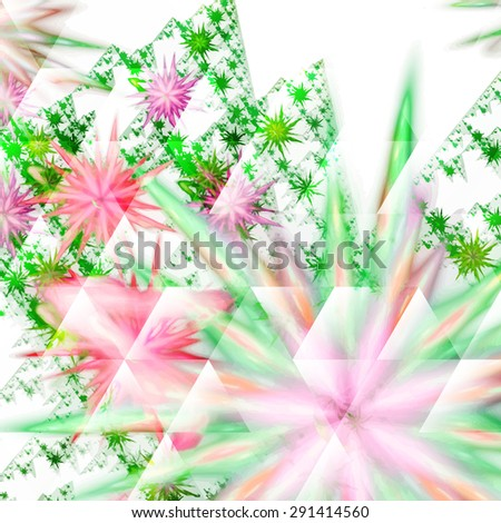 Digitally recreated watercolor flower texture. Abstract background for use in web projects and printed media.