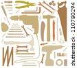 diiy tool - silhouette illustration - stock vector
