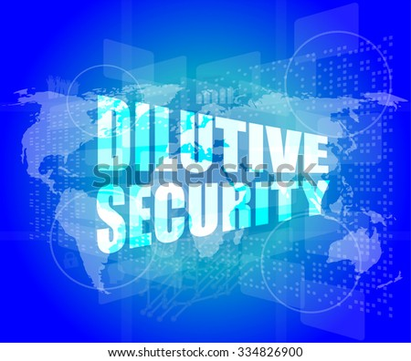 dilutive security on digital touch screen vector illustration - stock vector