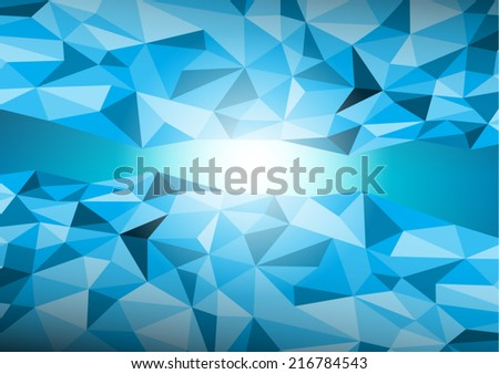 Dimension of blue abstract on lighting blue background. A vector illustration.