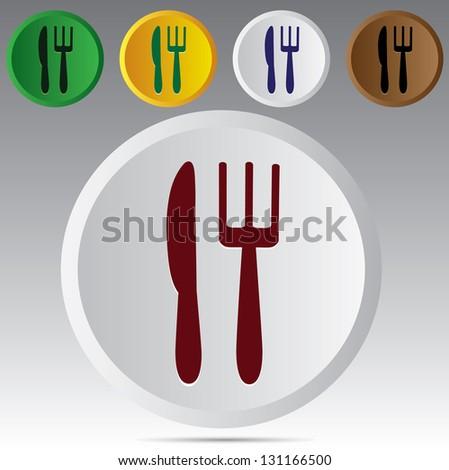 Dining symbol. Vector - stock vector