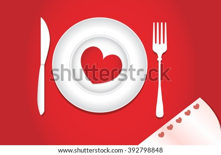 Dinner for lovers on Valentine's Day