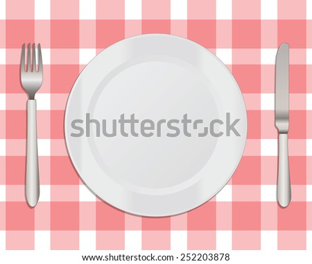 Dinner Plate with a Knife and Fork